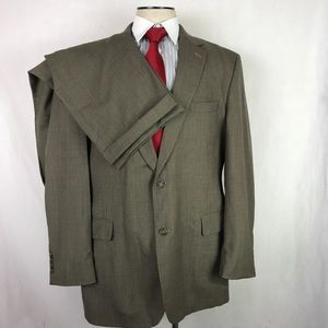 Jos a bank 46L Houndstooth 2 Piece Suit 38x32.